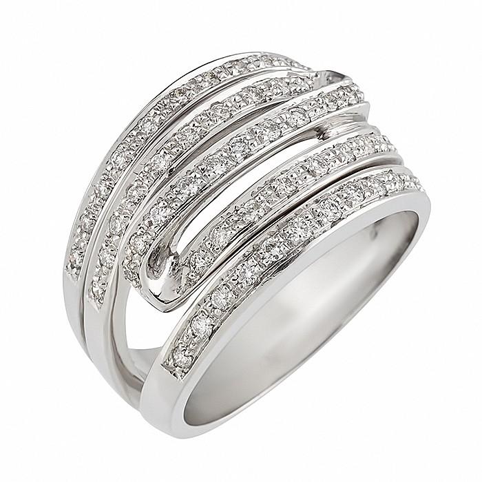 Δαχτυλίδι με Διαμάντια Λευκόχρυσος Κ18 - 04088