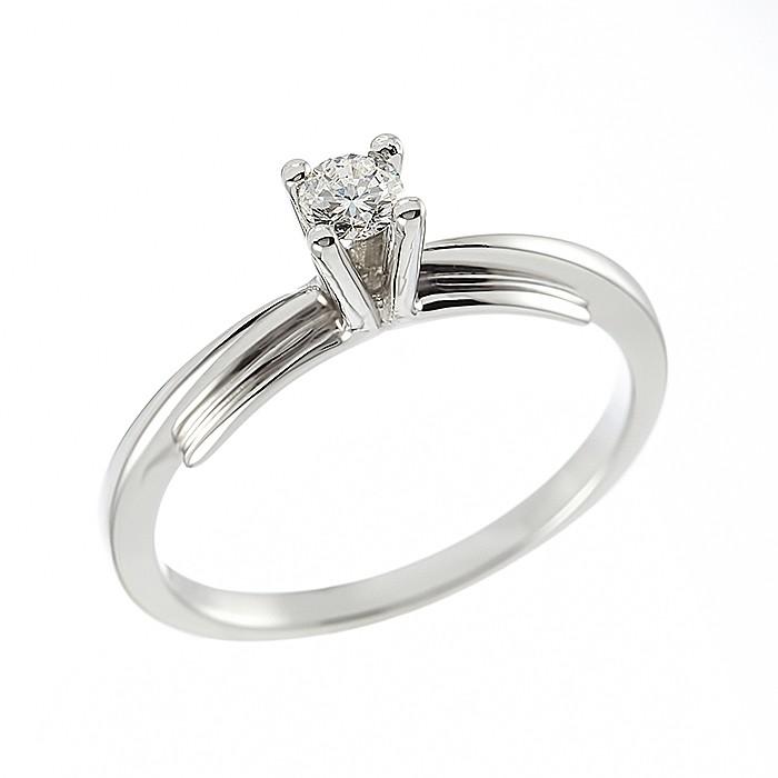 Δαχτυλίδι Μονόπετρο με Διαμάντι Λευκόχρυσος Κ18 - 04150