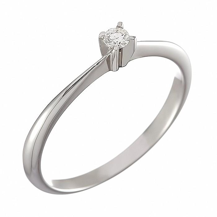 Δαχτυλίδι Μονόπετρο με Διαμάντι Λευκόχρυσος Κ18 - 05365