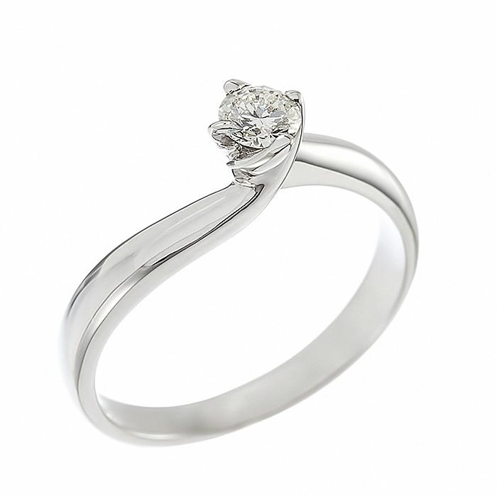 Δαχτυλίδι Μονόπετρο με Διαμάντι Λευκόχρυσος Κ18 - 05369