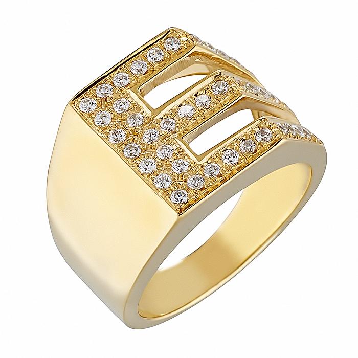 Δαχτυλίδι Chevalier E με Ζιργκόν Χρυσός Κ14-06552EY