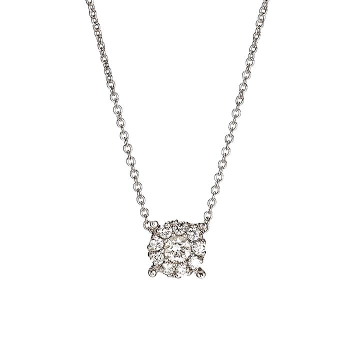 Μενταγιόν με Διαμάντια Λευκόχρυσος Κ18 - 10068P