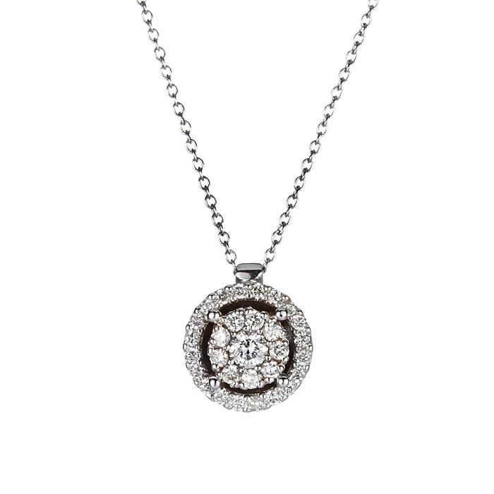 Μενταγιόν με Διαμάντια Λευκόχρυσος Κ18 - 10070P