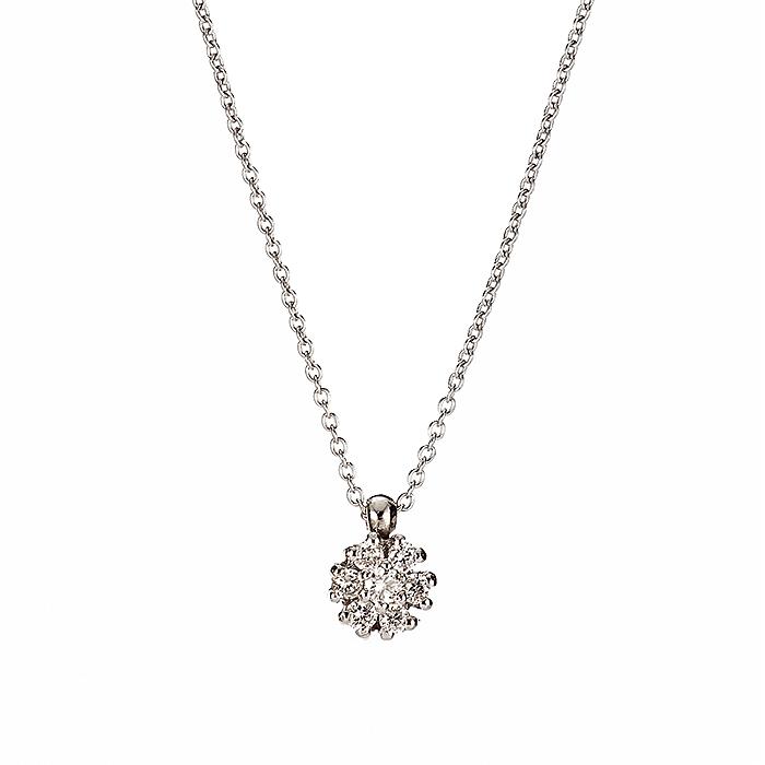 Μενταγιόν με Διαμάντια Λευκόχρυσος Κ18 - 10095