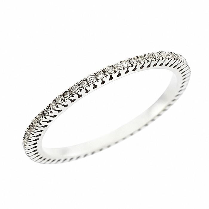 Δαχτυλίδι Ολόβερο με Διαμάντια Λευκόχρυσος Κ18 - 11000