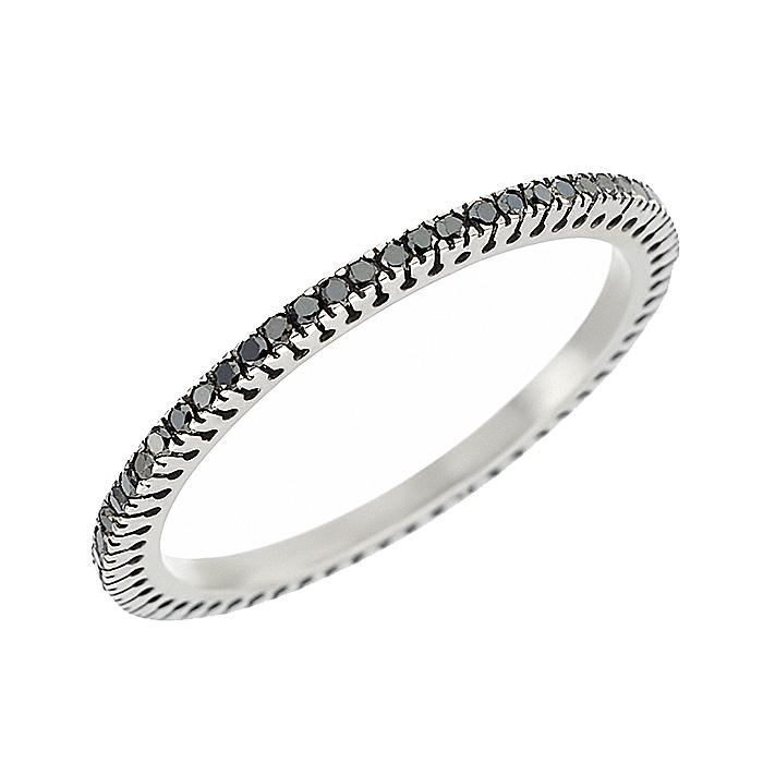 Δαχτυλίδι Ολόβερο με Μαύρα Διαμάντια Λευκόχρυσος Κ18 - 11000BL