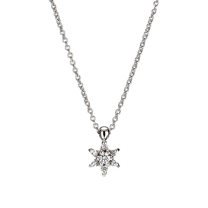 Μενταγιόν με Διαμάντια Λευκόχρυσος Κ18 - 11009