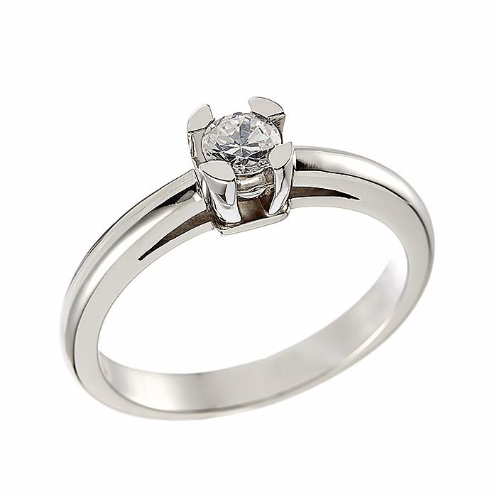 Δαχτυλίδι Μονόπετρο με Διαμάντι Λευκόχρυσος Κ18 - 11035