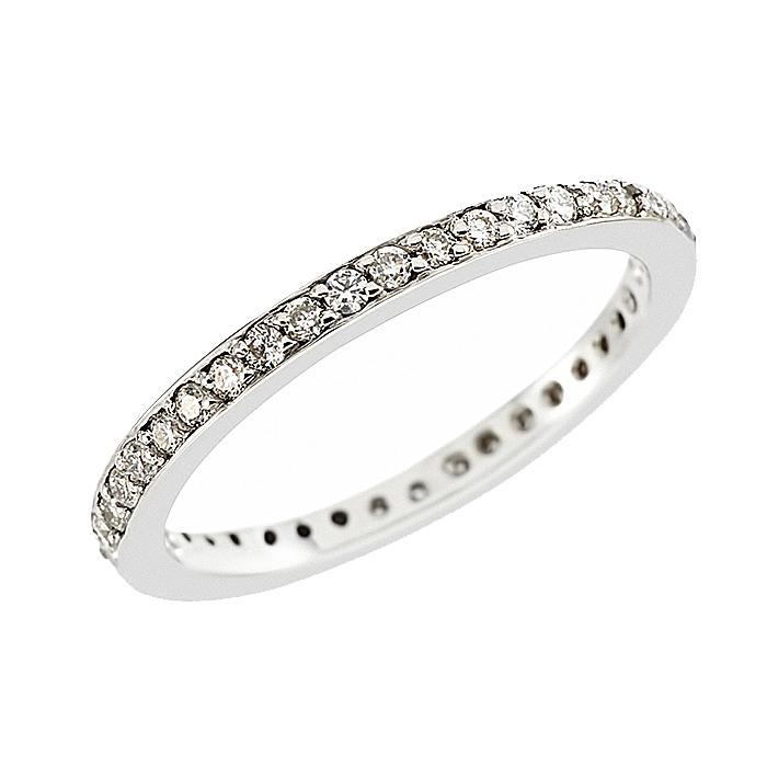 Δαχτυλίδι Ολόβερο με Διαμάντια Λευκόχρυσος Κ18 - 11054