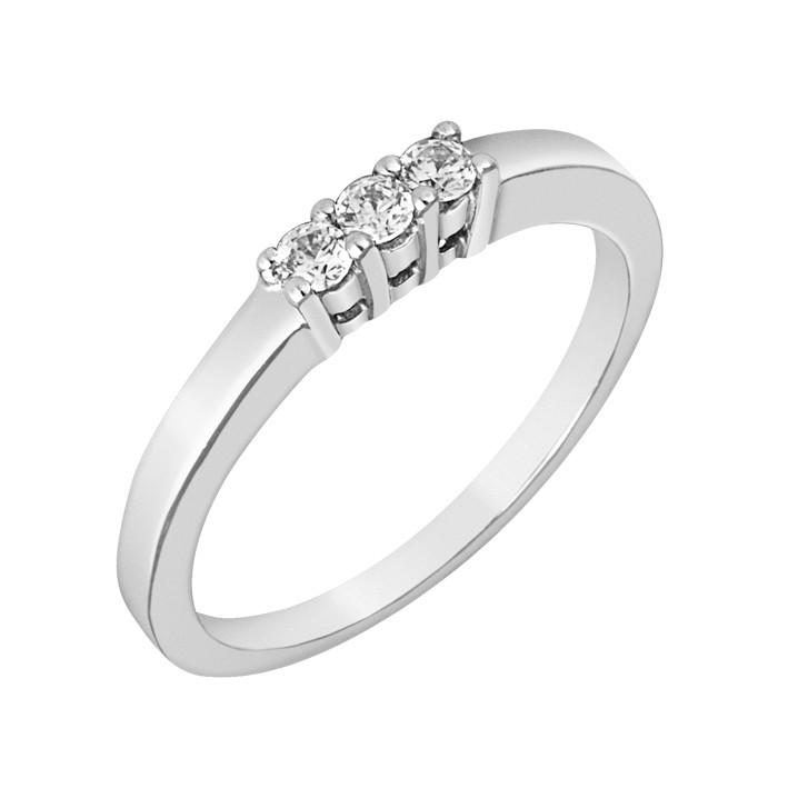 Δαχτυλίδι Μισόβερο με Διαμάντια Λευκόχρυσος Κ18 - 11375
