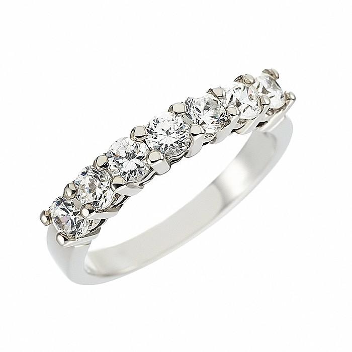 Δαχτυλίδι Μισόβερο με Διαμάντια Λευκόχρυσος Κ18 - 11379