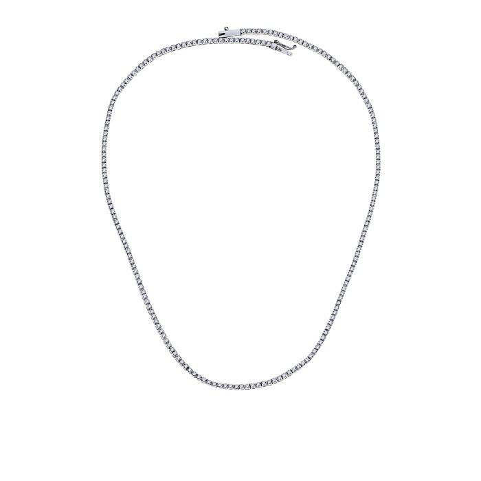 Κολιέ με Διαμάντια Λευκόχρυσος Κ18 - 40064