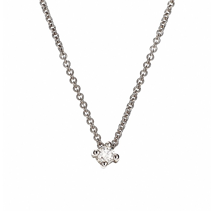 Μονόπετρο Μενταγιόν με Διαμάντι Λευκόχρυσος Κ18 - 51100