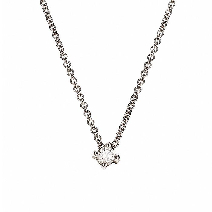 Μονόπετρο Μενταγιόν με Διαμάντι Λευκόχρυσος Κ18 - 51101Α