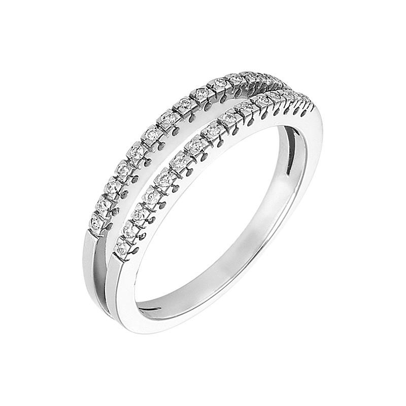 Δαχτυλίδι με Διαμάντια Λευκόχρυσος Κ18 - 91152