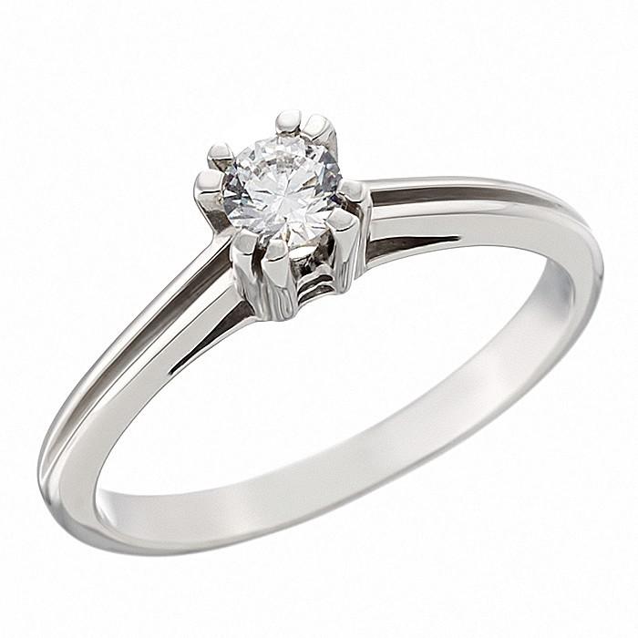 Δαχτυλίδι Μονόπετρο με Ζιργκόν Λευκόχρυσος Κ14 - 91184