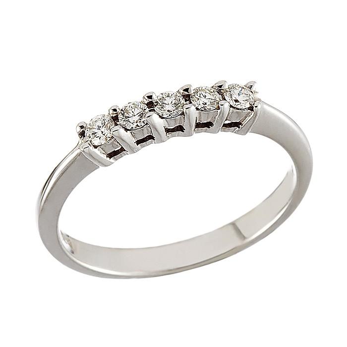 Δαχτυλίδι Μισόβερο με Διαμάντια Λευκόχρυσος Κ18 - 91189