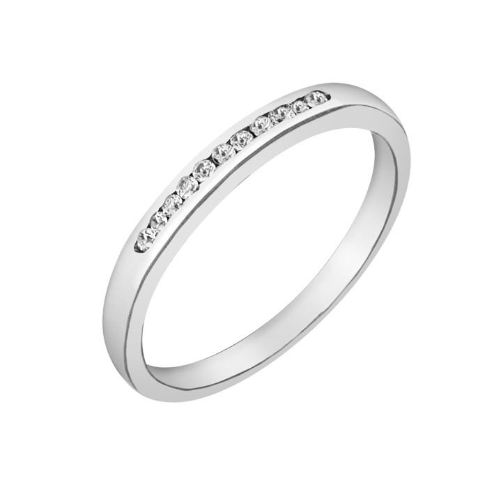 Δαχτυλίδι Μισόβερο με Διαμάντια Λευκόχρυσος Κ18 - 91277