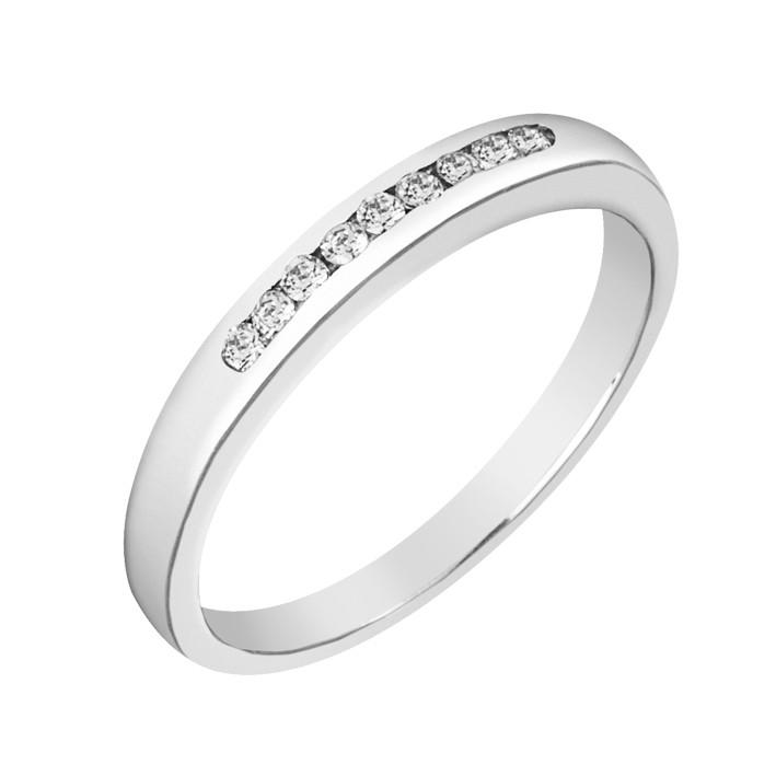 Δαχτυλίδι Μισόβερο με Διαμάντια Λευκόχρυσος Κ18 - 91278