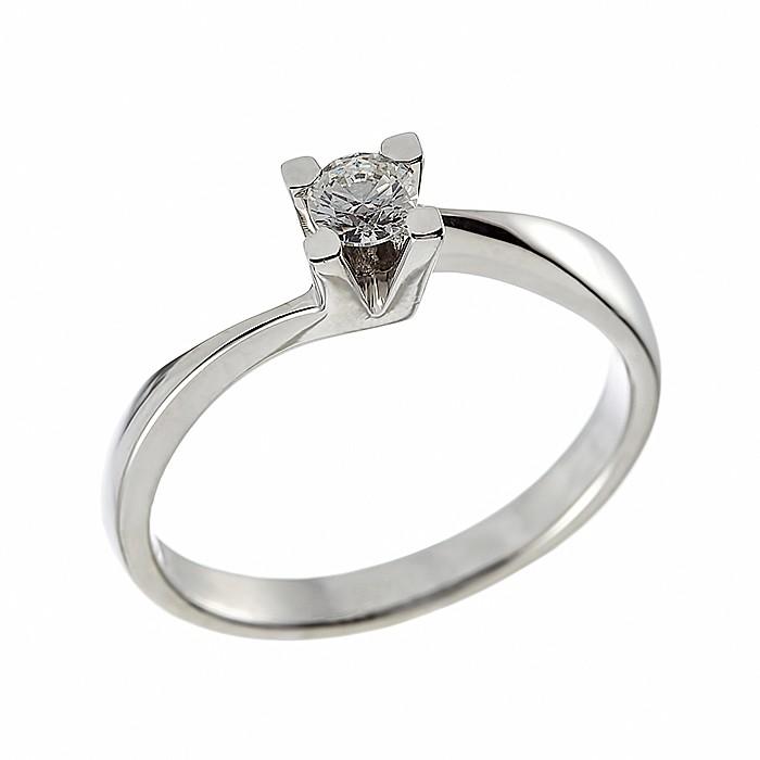 Δαχτυλίδι Μονόπετρο με Διαμάντι Λευκόχρυσος Κ18 - 912821R