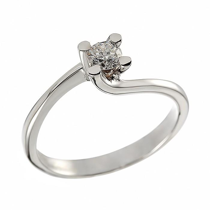 Δαχτυλίδι Μονόπετρο με Διαμάντι Λευκόχρυσος Κ18 - 91284