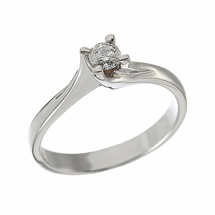 Δαχτυλίδι Μονόπετρο με Διαμάντι Λευκόχρυσος Κ18 - 912861R