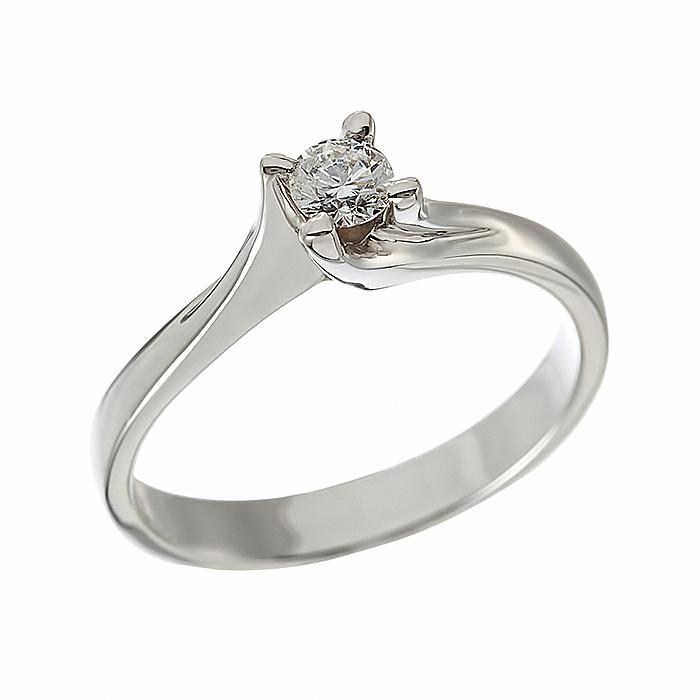 Δαχτυλίδι Μονόπετρο με Διαμάντι Λευκόχρυσος Κ18 - 912862R