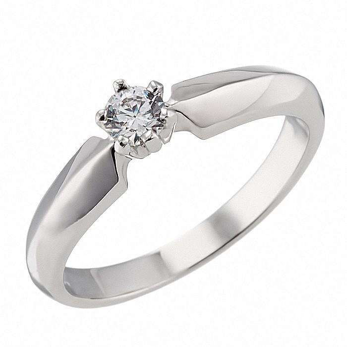 Δαχτυλίδι Μονόπετρο με Ζιργκόν Λευκόχρυσος Κ14 - 92318