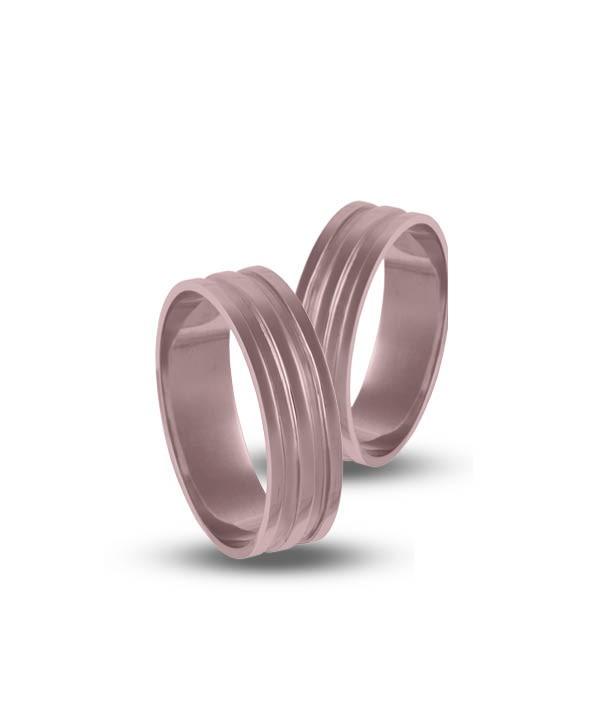 Βέρες Ροζ Χρυσός Κ14 - 205520