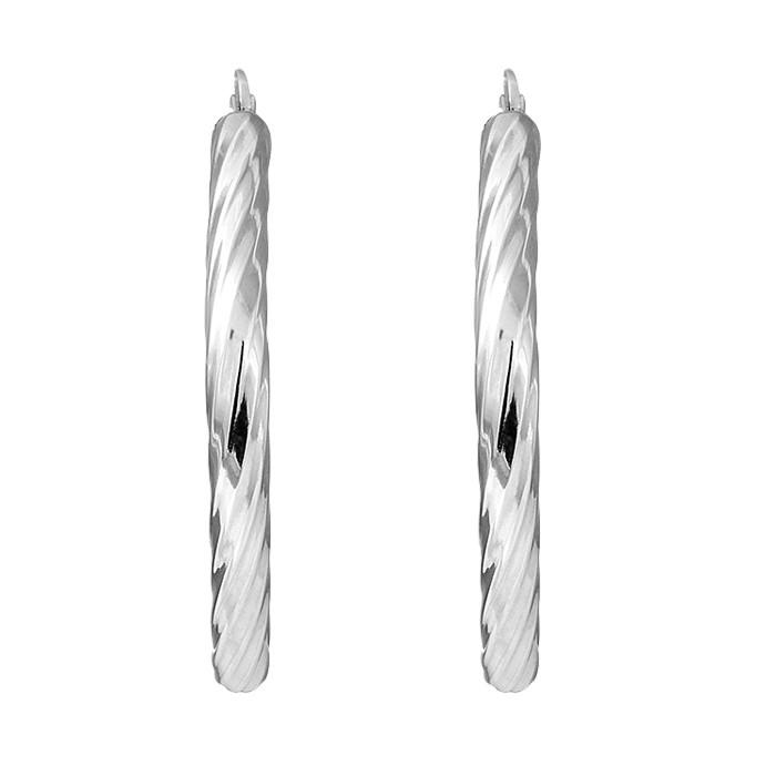 Σκουλαρίκια Λευκόχρυσος Κ14 - 06381