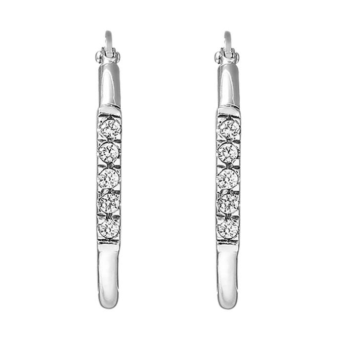 Σκουλαρίκια με Ζιργκόν Λευκόχρυσος Κ14 - 06463