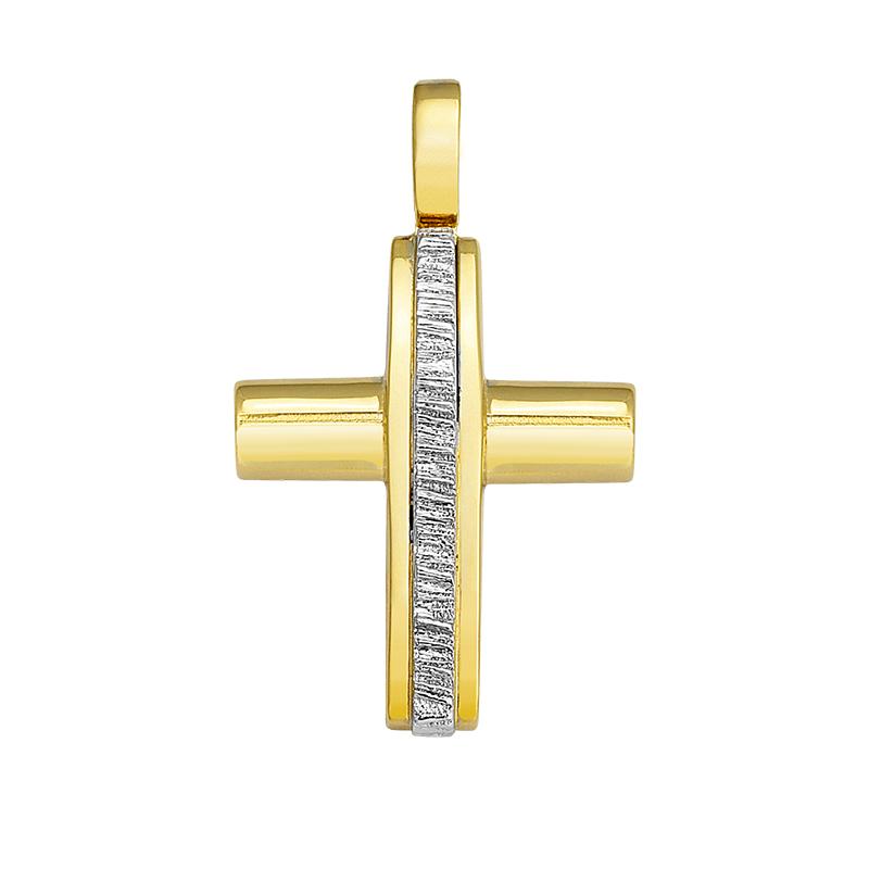 Σταυρός Δίχρωμος Κ14 - 13049SA