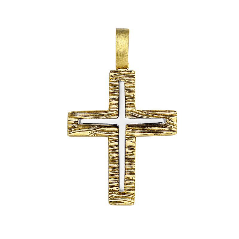Σταυρός Δίχρωμος Κ14 - 13055