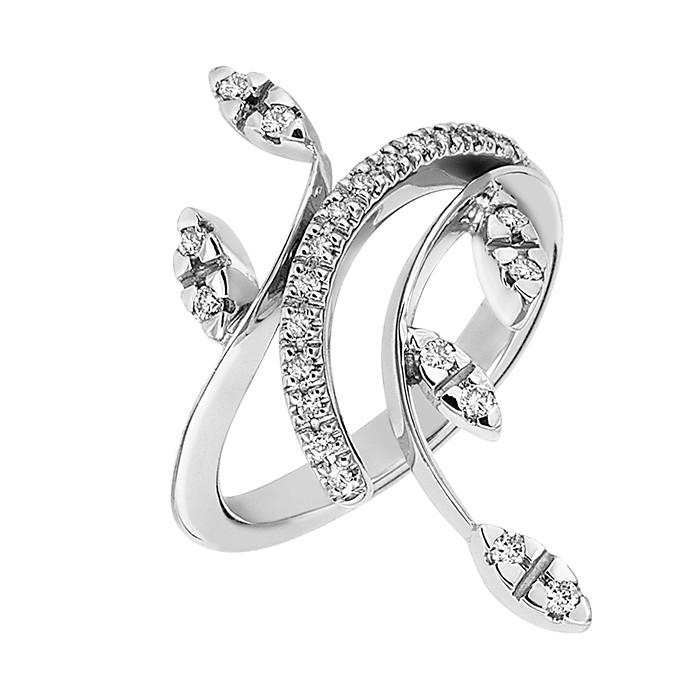 Δαχτυλίδι με Διαμάντια Λευκόχρυσος Κ18 - 05362