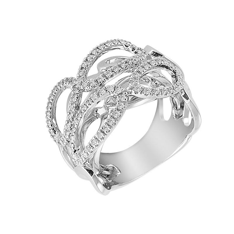Δαχτυλίδι με Διαμάντια Λευκόχρυσος Κ18 - 06163