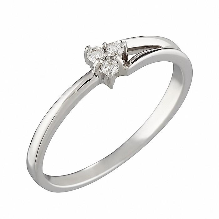 Δαχτυλίδι με Διαμάντια Λευκόχρυσος Κ18 - 07252