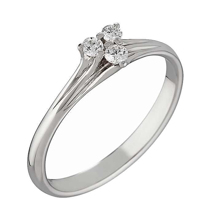 Δαχτυλίδι με Διαμάντια Λευκόχρυσος Κ18 - 07254