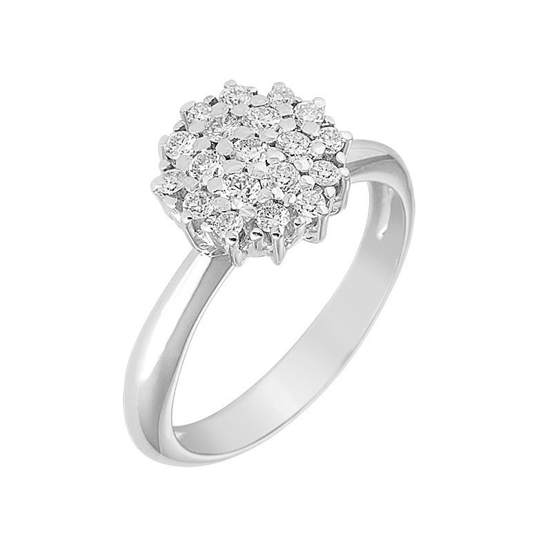 Δαχτυλίδι με Διαμάντια Λευκόχρυσος Κ18 - 04086
