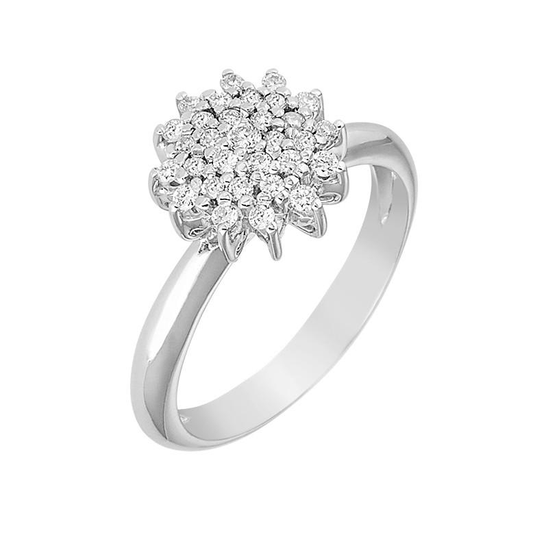 Δαχτυλίδι με Διαμάντια Λευκόχρυσος Κ18 - 04087
