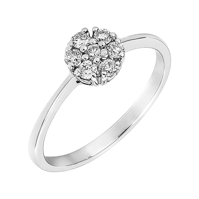 Δαχτυλίδι με Διαμάντια Λευκόχρυσος Κ18 - 043381R