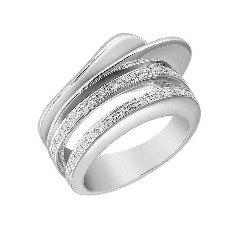 Δαχτυλίδι με Διαμάντια Λευκόχρυσος Κ18 - 06475