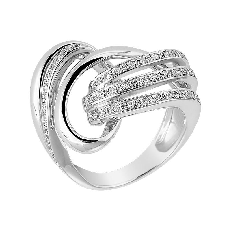 Δαχτυλίδι με Διαμάντια Λευκόχρυσος Κ18 - 06479