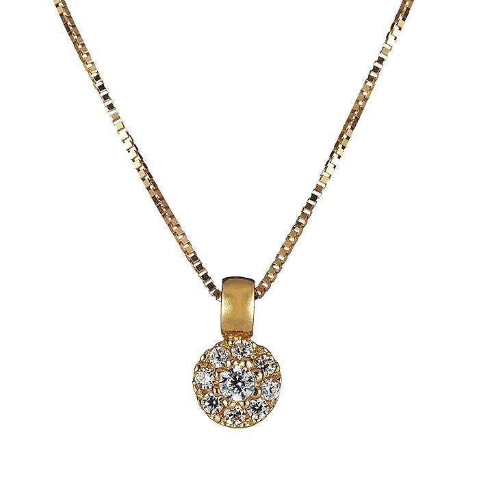 Κολιέ με Ζιργκόν Χρυσός Κ14 - 09098