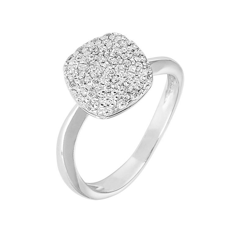 Δαχτυλίδι με Ζιργκόν Λευκόχρυσος Κ14 - 09102
