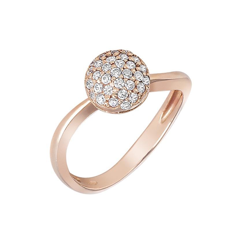 Δαχτυλίδι με Ζιργκόν Ροζ Χρυσός Κ14 - 09103