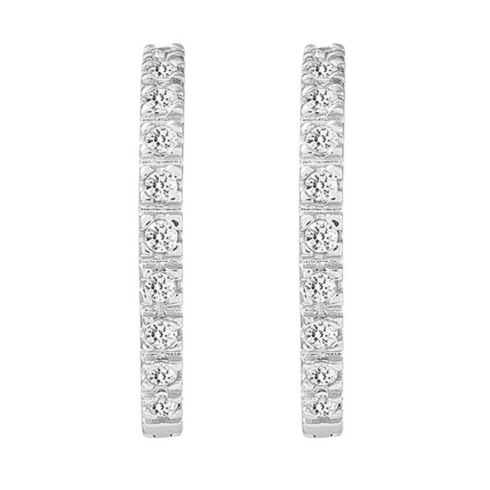 Σκουλαρίκια με Ζιργκόν Δίχρωμα Κ14 - 08285