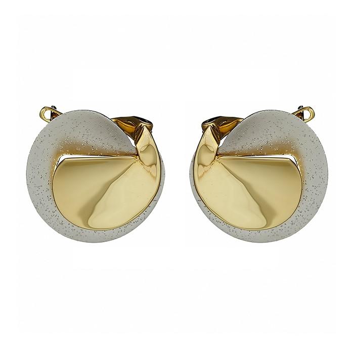 Σκουλαρίκια Δίχρωμα Κ14 - 09160