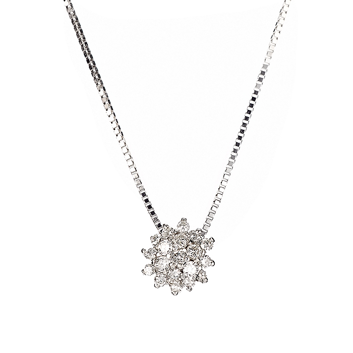 Μενταγιόν με Διαμάντια Λευκόχρυσος Κ18 - 04359
