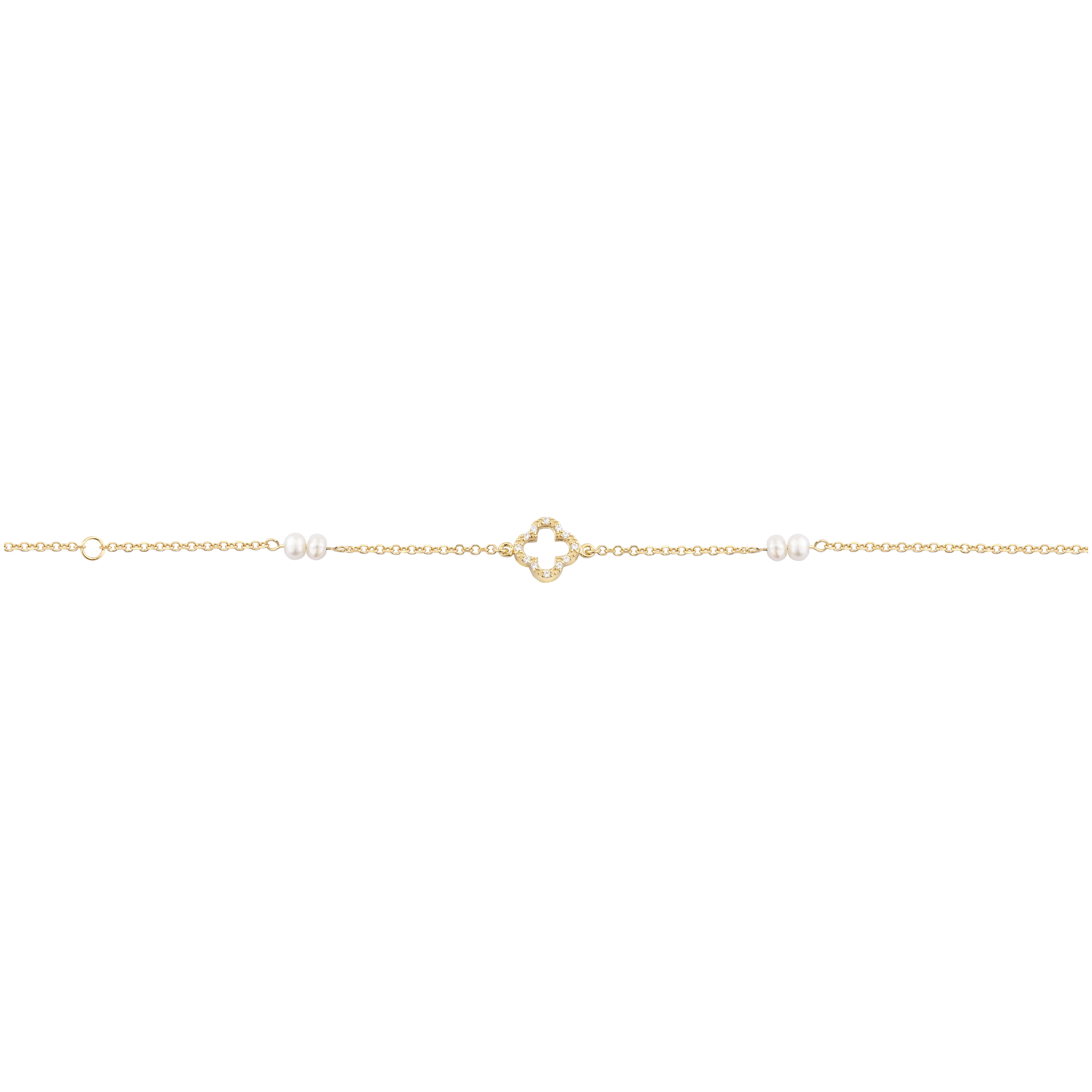 Παιδικό Βραχιόλι με Ζιργκόν Χρυσός Κ9 - 10341