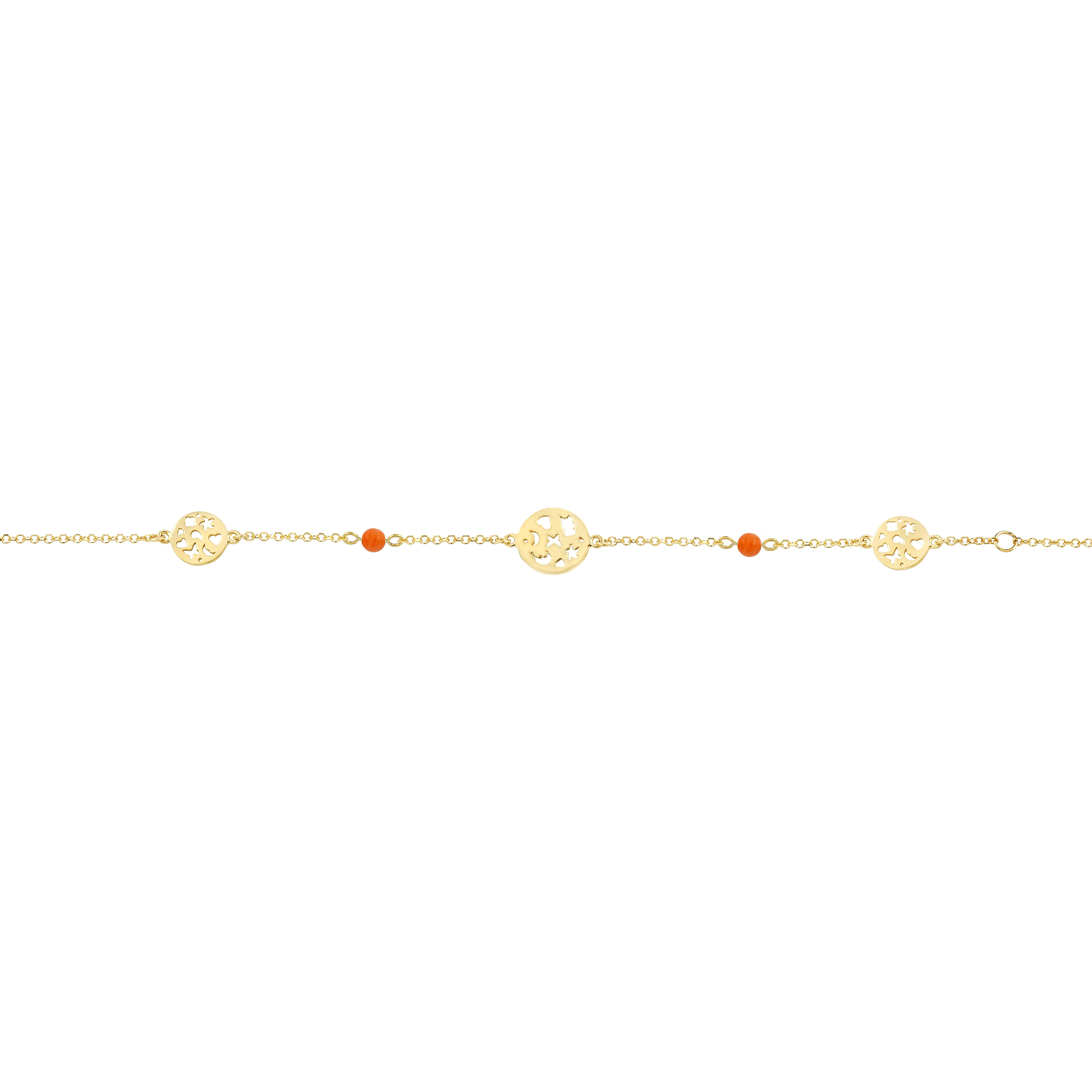 Παιδικό Βραχιόλι με Μοτίφ Χρυσός Κ9 - 10156